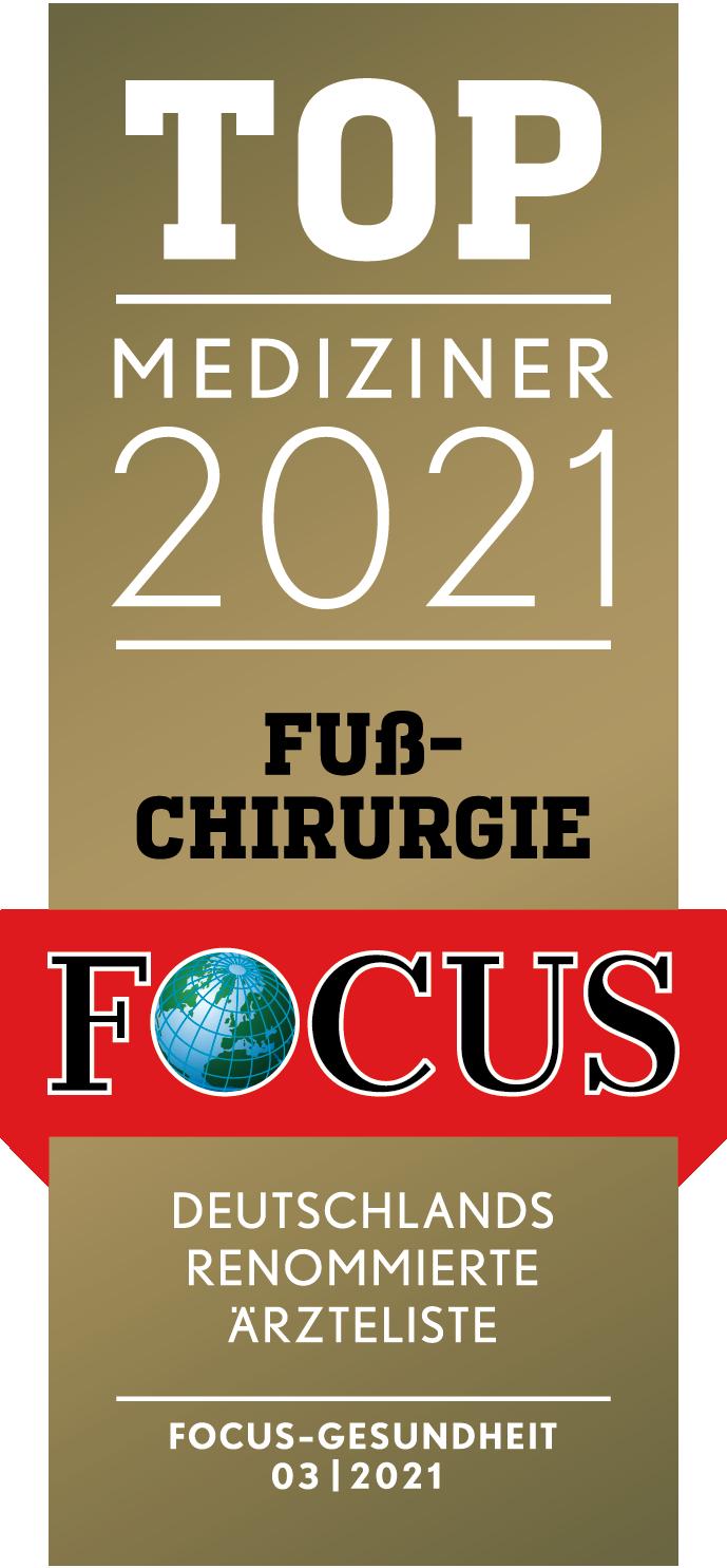 Dr. med. Christian Kinast - Top Mediziner Fußchirurgie 2016, 2017, 2018, 2019, 2020 - Focus Ärzteliste